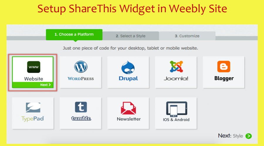 Add ShareThis Social Sharing Buttons to Weebly