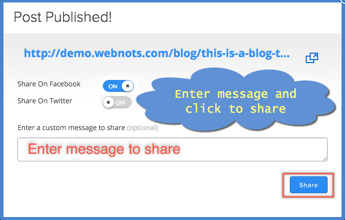 Share Weebly Blog Posts in Facebook