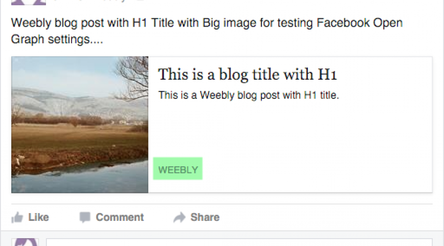 How to Share Weebly Blog Posts on Facebook?