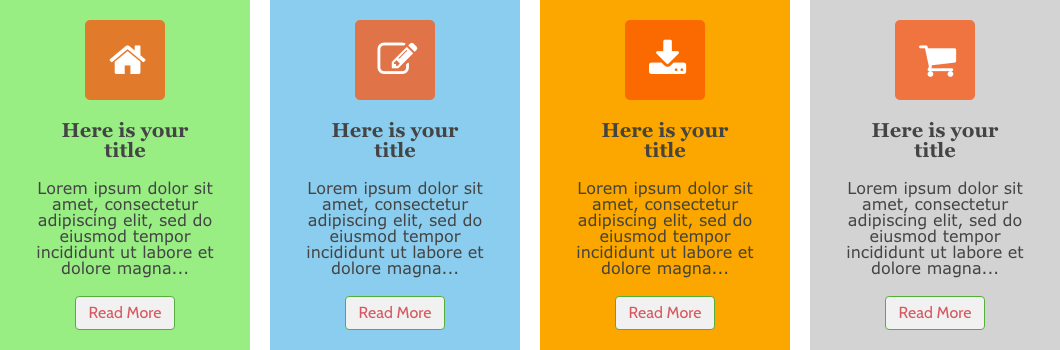 Weebly Icon Panel Widget with Margin