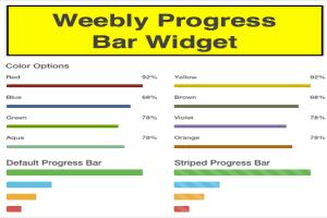 Weebly Progress Bar Widget