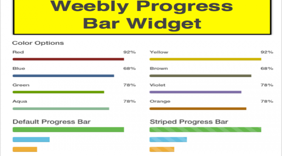 How to Add Bootstrap Progress Bars on Weebly Site?