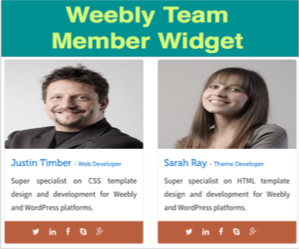 Add Team Member Widget in Weebly