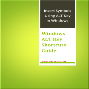 ALT Key Shortcuts PDF