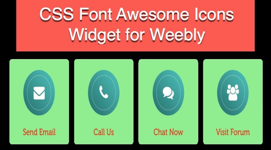 Font Awesome Icons Widget for Weebly Site