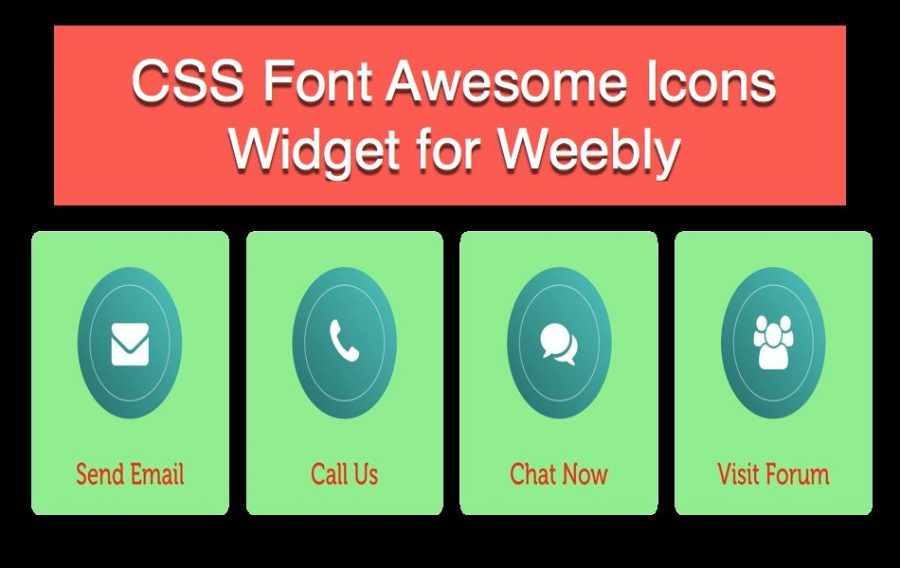 CSS Font Awesome Icons Widget for Weebly