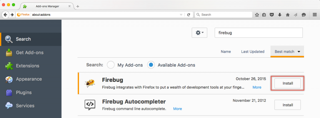 View Webpage Source HTML and CSS Using Firebug in Firefox