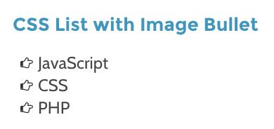 Список элементов с изображением с помощью CSS