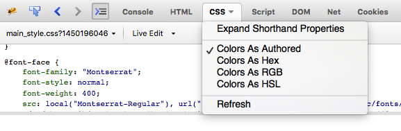 Viewing CSS Options in Firebug