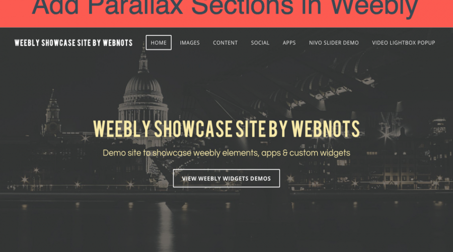 How to Add Parallax Sections in Weebly Site?