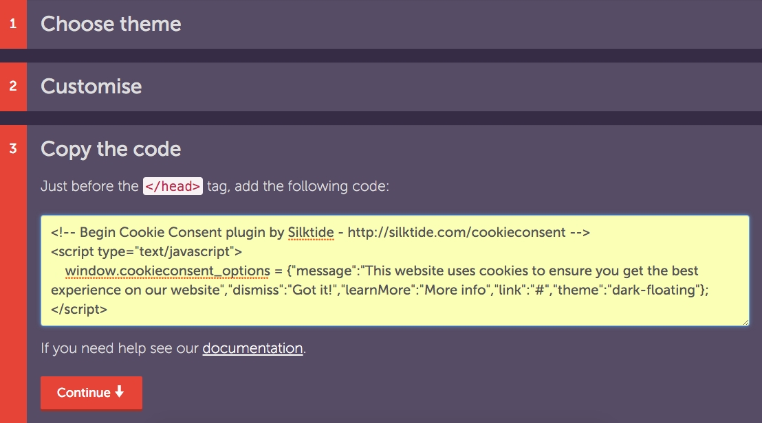 Cookie Consent Plugin for Weebly