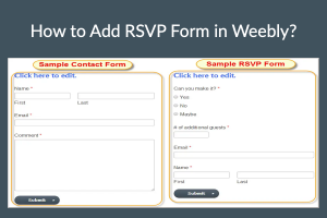 How to Add RSVP Form in Weebly?