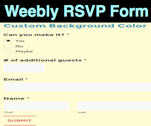 Add and Customize RSVP Form in Weebly Site