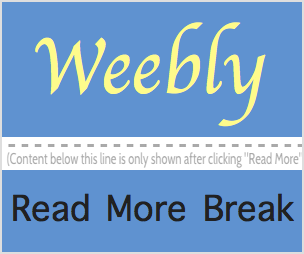 Add and Customize Read More Break in Weebly Blog
