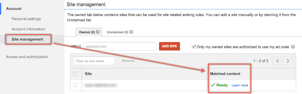 Checking Eligibility of Matched Content Ads in AdSense
