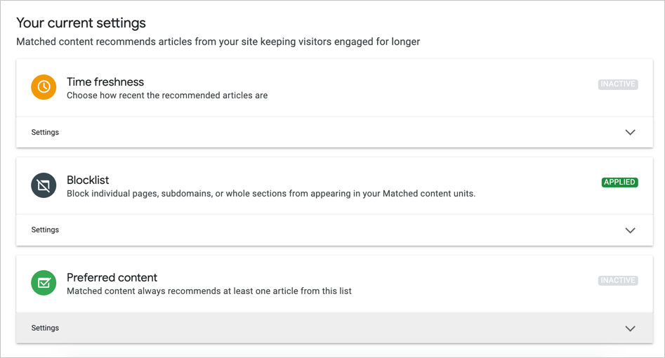 Customizing Matched Content Ads