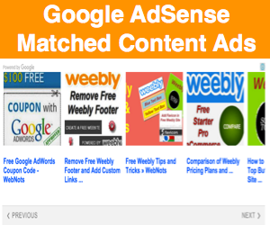 Google AdSense Matched Content Ads