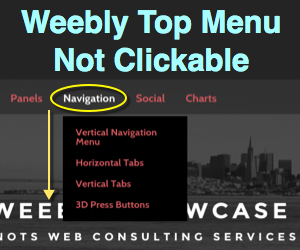 Make Top Level Navigation Menu Not Clickable in Weebly