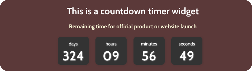 Weebly Countdown Timer Widget