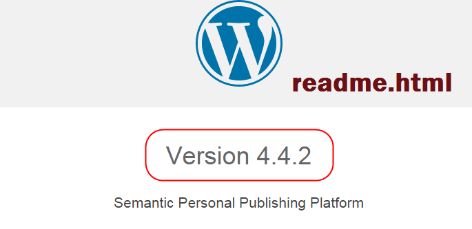 WordPress Readme.html File