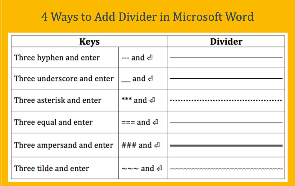 4 Ways To Add Dividers In Microsoft Word Webnots