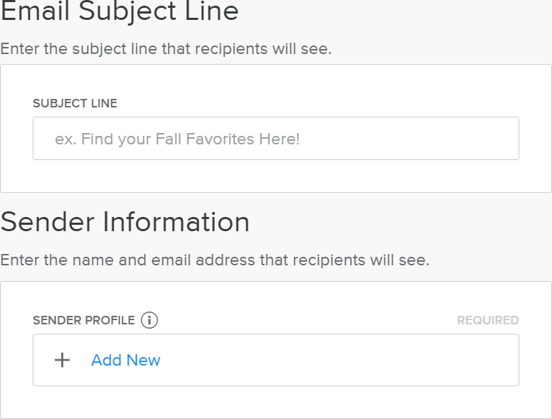 Adding Details of Email Sender