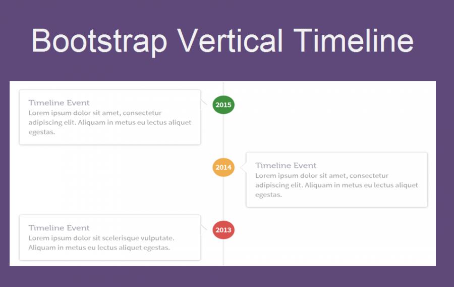 Bootstrap Vertical Timeline Widget