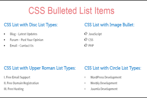 CSS Bulleted List Items