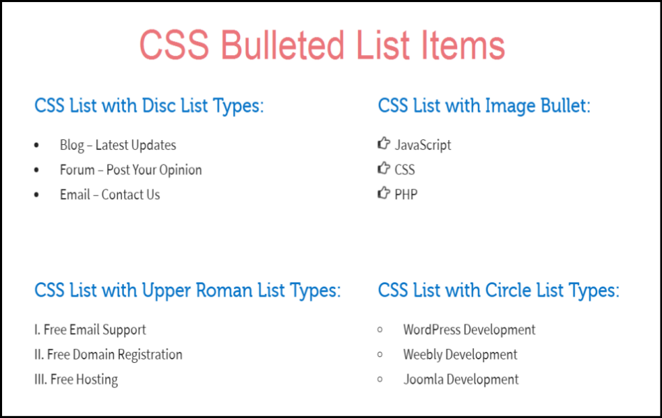 How to Create Bulleted List Items in Weebly?