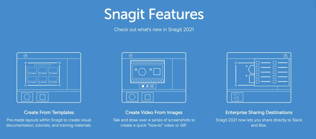 Snagit 2021 Features