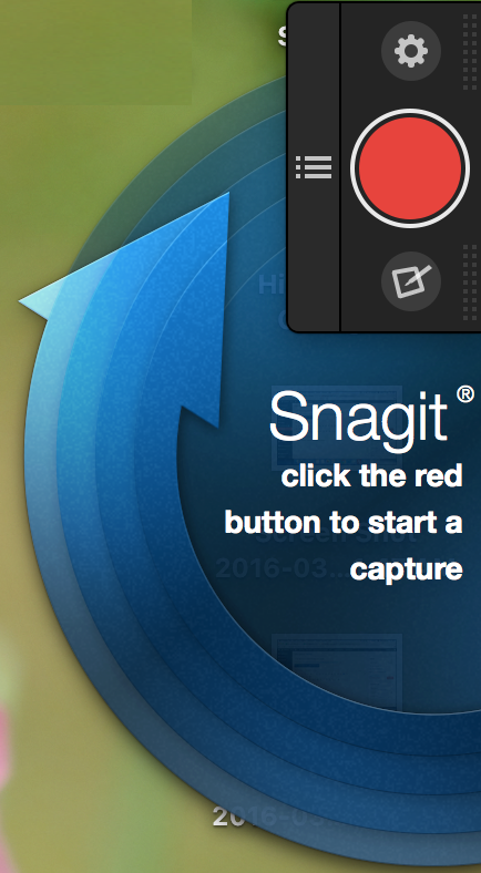 Snagit One-Click Capturea