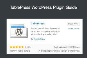 TablePress WordPress Plugin Guide