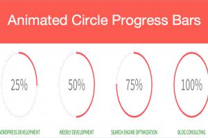 Animated Circle Progress Bars