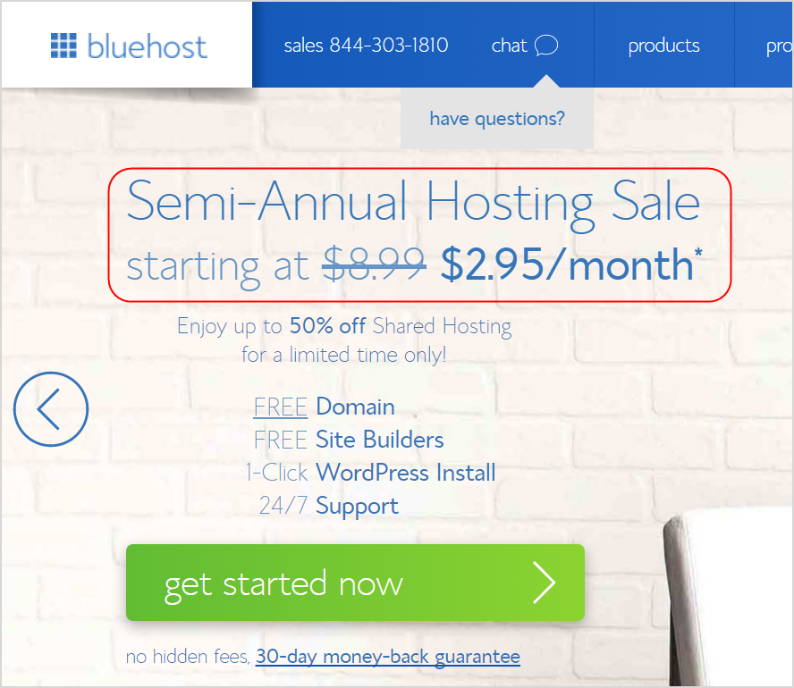 Bluehost Shared Hosting Offer Deal