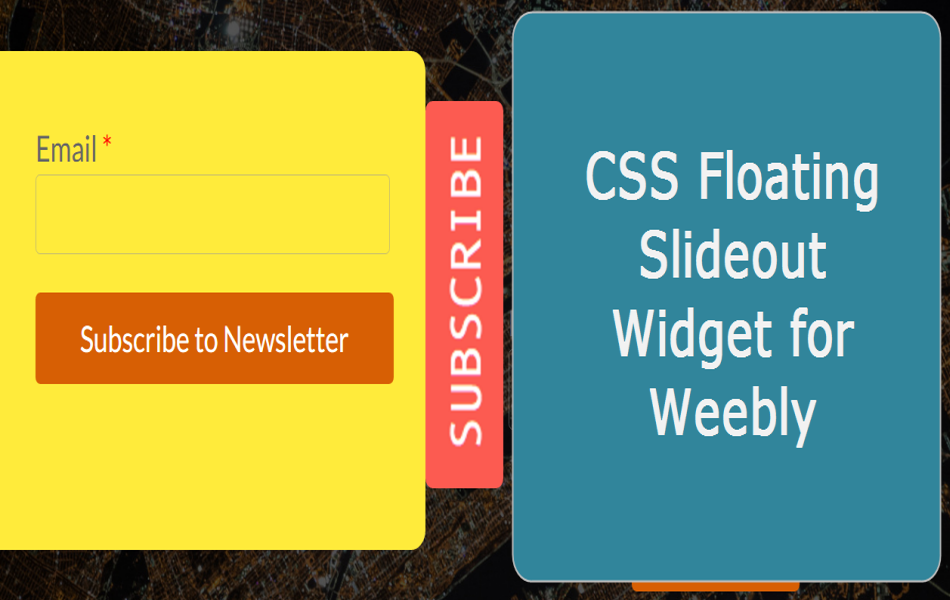 CSS Floating Slideout Widget for Weebly