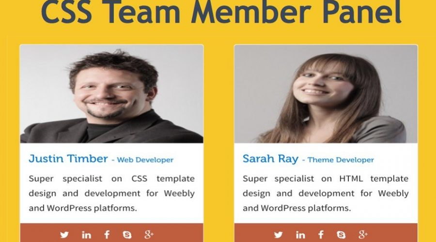 Add Team Member Widget in Weebly