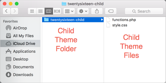 Creating Child Theme Folder Locally
