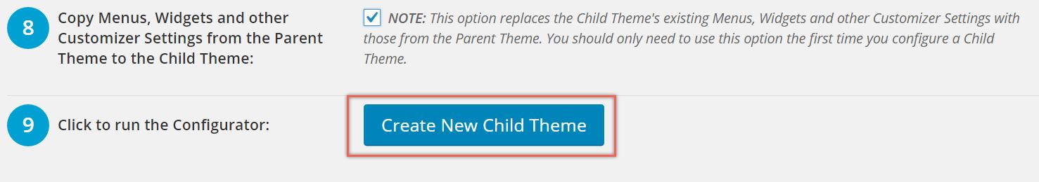 Creating New Child Theme in WordPress with Plugin