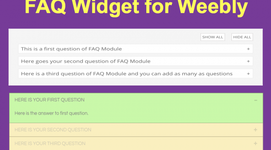 Free Q&A or FAQ Widget for Weebly