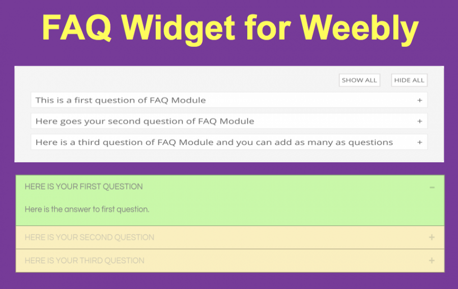 FAQ Widget for Weebly