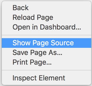 Right Click Options on Safari