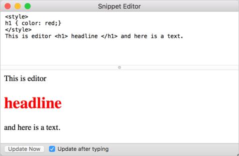 Safari Snippet Editor