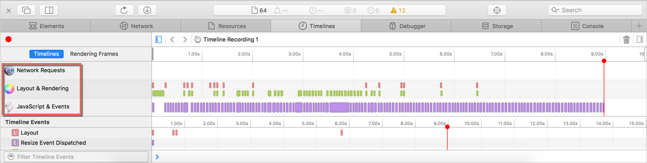 Safari Timeline Recording
