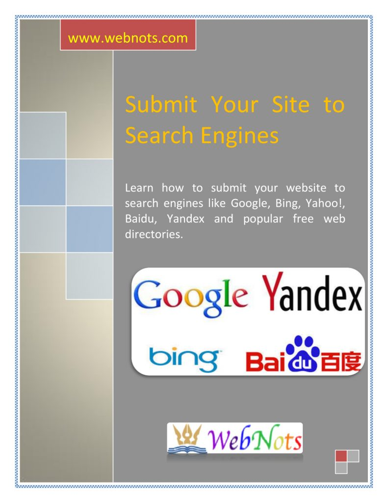 Search Engine Submission Guide