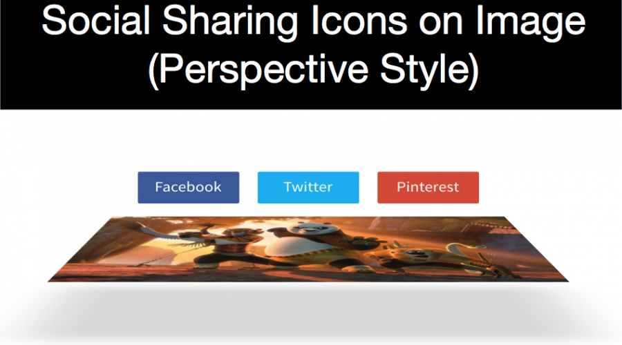 Social Sharing Icons on Image Hover – Perspective Style