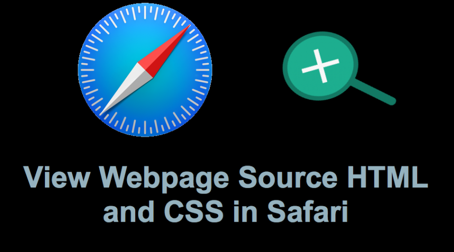 View Webpage Source CSS and HTML in Safari