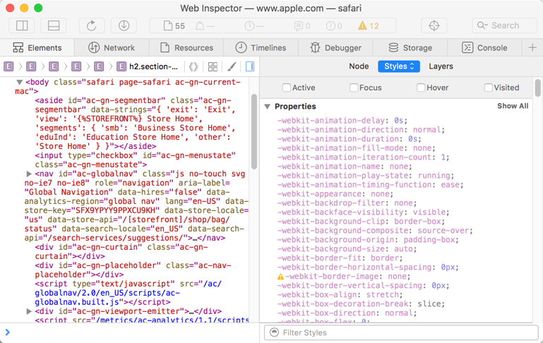 Viewing Safari Web Inspector in Separate Window