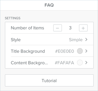 Weebly FAQ App Options