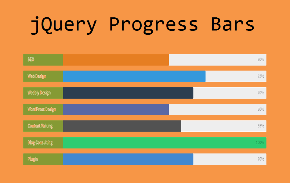 How to Add Animated Progress or Skill Bar in Weebly?