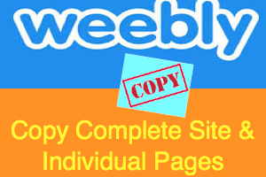 Copy Weebly Site and Page